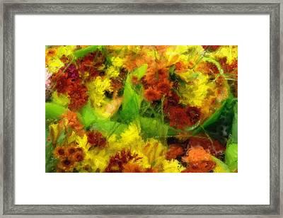 Flower Carnival Framed Print by Ayse Deniz
