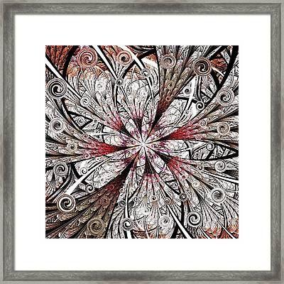 Flower Carving Framed Print by Anastasiya Malakhova