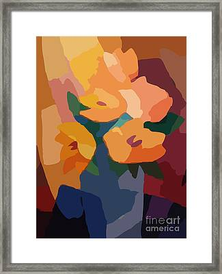 Flower Deco I Framed Print by Lutz Baar