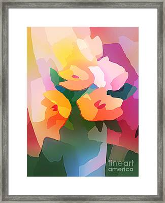 Flower Deco II Framed Print by Lutz Baar