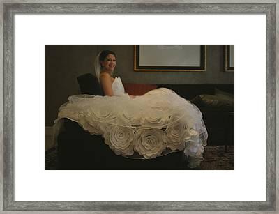 Flower Dress Bride Framed Print by Mike Hope