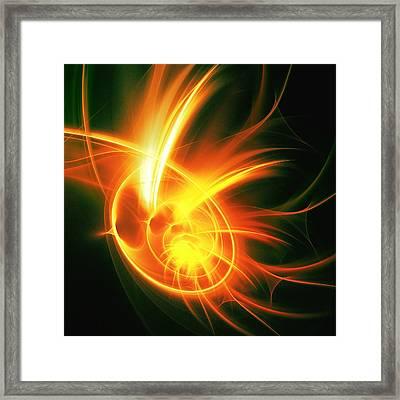 Flower Energy Framed Print by Anastasiya Malakhova