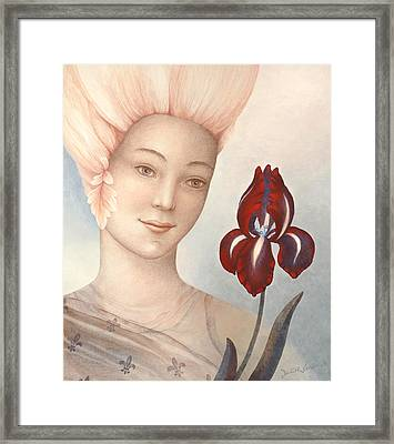 Flower Fairy Framed Print by Judith Grzimek