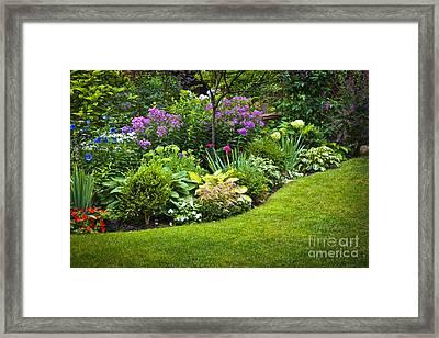 Flower Garden Framed Print by Elena Elisseeva