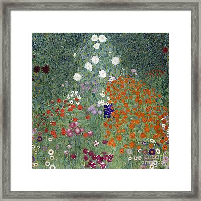 Flower Garden Framed Print by Gustav Klimt