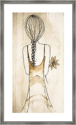 Flower Girl 3 Framed Print by Anne Costello