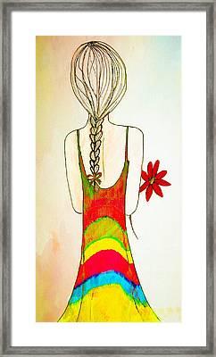 Flower Girl Framed Print by Anne Costello
