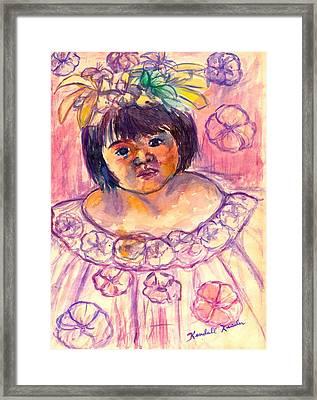 Flower Girl Framed Print by Kendall Kessler