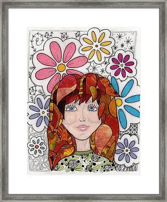 Flower Girl Framed Print by Paula Dickerhoff