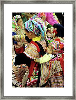 Flower Hmong Baby 03 Framed Print by Rick Piper Photography