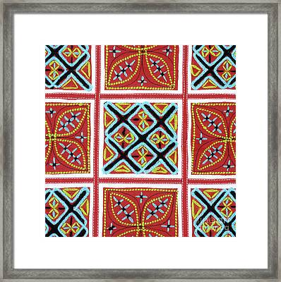 Flower Hmong Embroidery 01 Framed Print by Rick Piper Photography