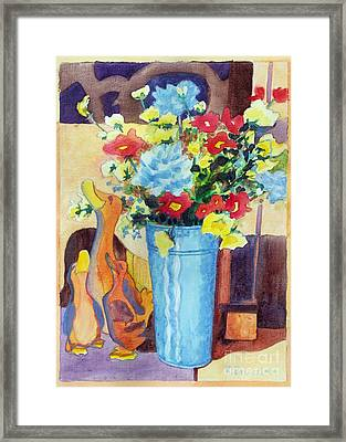 Flower In The Dell Framed Print by Kathy Braud