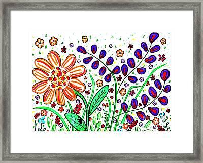 Flower Joy Framed Print by Sarah Loft