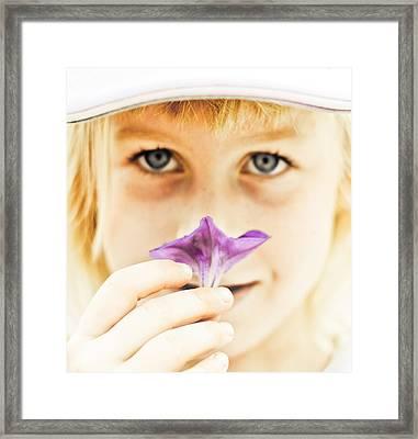 Flower Framed Print by Kevin Barske