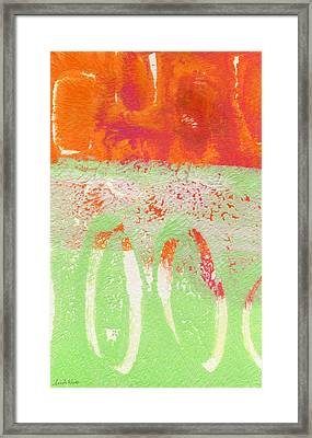 Flower Market Framed Print by Linda Woods