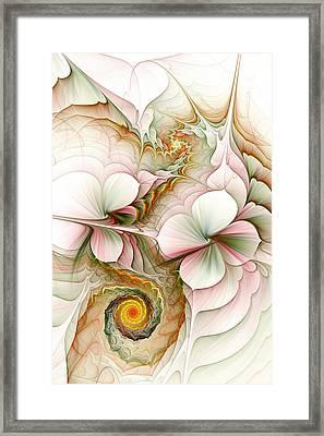 Flower Motion Framed Print by Anastasiya Malakhova