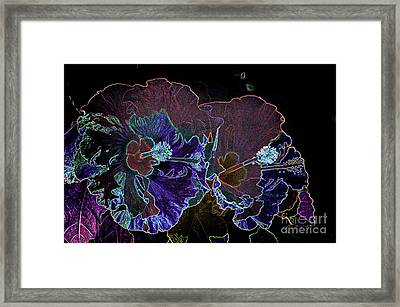 Flower - Neon Hibiscus - Luther Fine -art Framed Print by Luther Fine Art