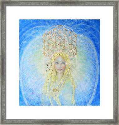 Flower Of Life Angel Framed Print by Lila Violet