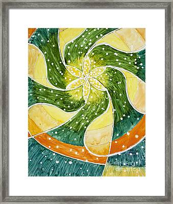 Flower Of Life Framed Print by Susan Driver