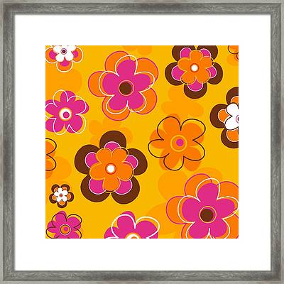 Flower Pattern 2 Framed Print by Esteban Studio