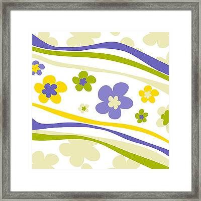 Flower Pattern 3 Framed Print by Esteban Studio