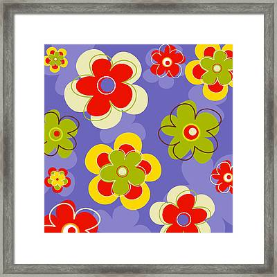 Flower Pattern Framed Print by Esteban Studio