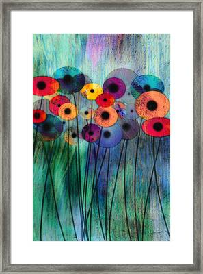 Flower Power Three Framed Print by Ann Powell