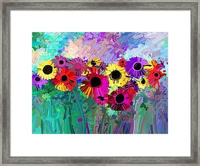Flower Power Two Framed Print by Ann Powell