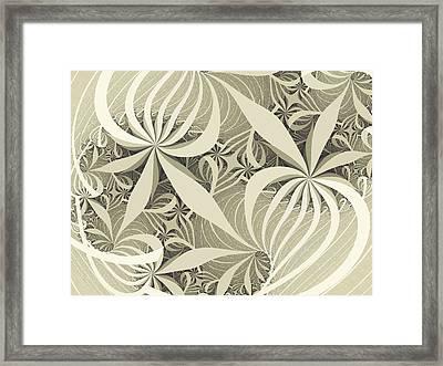 Flower Swirl Framed Print by Anastasiya Malakhova