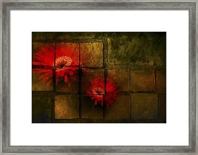 Flower Tiles Framed Print by Michael Huddleston