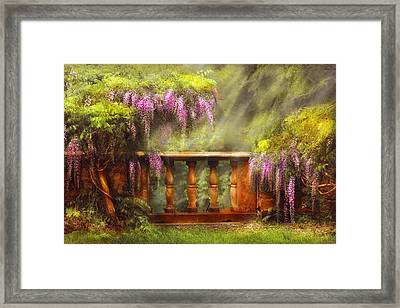 Flower - Wisteria - A Lovers View Framed Print by Mike Savad