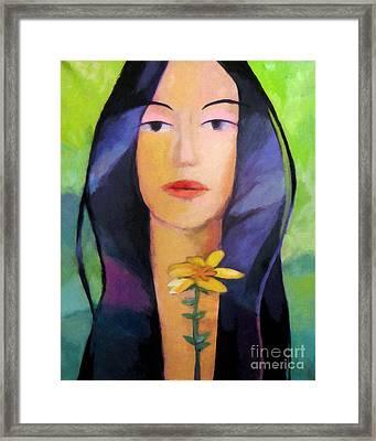 Flower Woman Framed Print by Lutz Baar