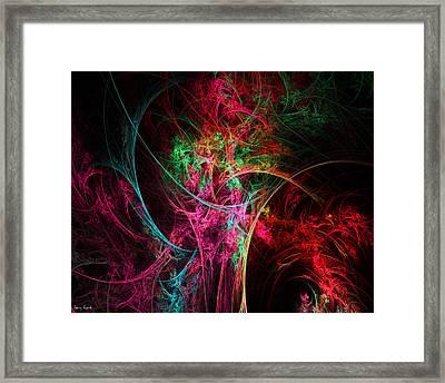 Flowerful Vase Framed Print by Lourry Legarde