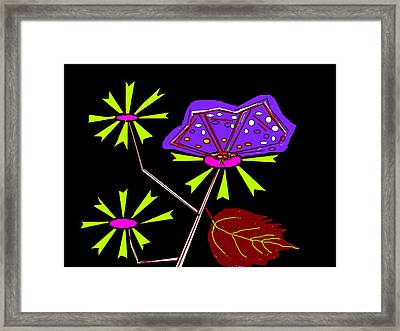 Flowers And Butterfly Framed Print by Anand Swaroop Manchiraju