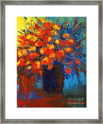 Flowers Are Always Welcome IIi Framed Print by Patricia Awapara