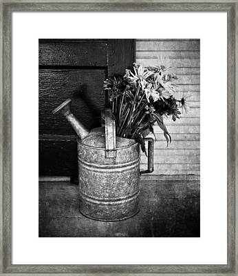 Flowers At The Door  Framed Print by JC Photography and Art