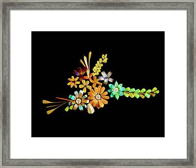 Flowers Created From Butterfly Scales Framed Print by Steve Lowry