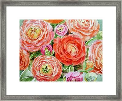 Flowers Flowers Flowers Framed Print by Irina Sztukowski