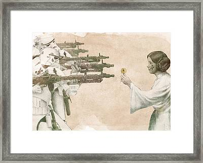 Flowers For Alderaan Framed Print by Eric Fan