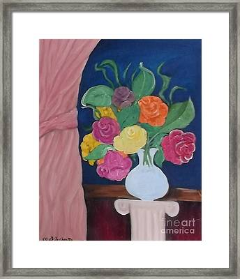 Flowers For Madear Framed Print by Mildred Chatman
