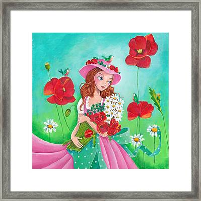 Flowers For You Framed Print by Cartita Design