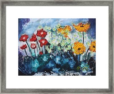 Flowers Through The Storm Framed Print by Michael Kulick