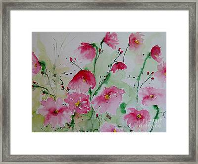 Flowers - Watercolor Painting Framed Print by Ismeta Gruenwald