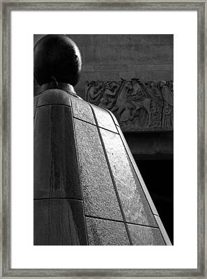 Flowing Down Framed Print by Valentino Visentini