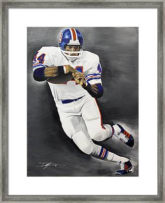 Floyd Little Framed Print by Don Medina