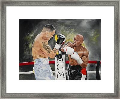 Floyd Mayweather Framed Print by Don Medina