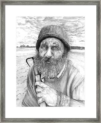 Floyd The Clam Digger Framed Print by James Oliver