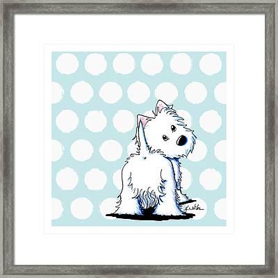 Fluffy Butt Westie Framed Print by Kim Niles