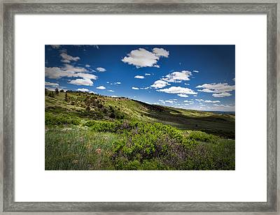 Fluffy Clouds Framed Print by Tony Boyajian