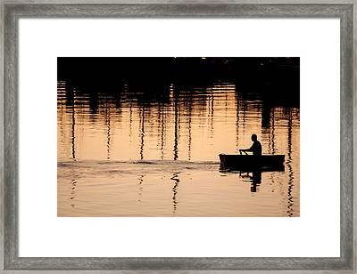 Fluid Thoughts Framed Print by Denise Dube
